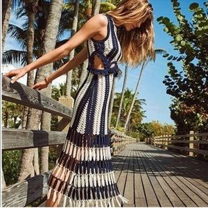 Dresses & Skirts - NEW stripped cut out crocheted maxi dress size s